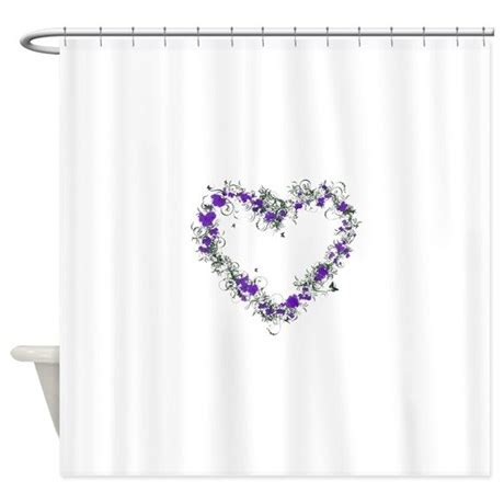 Purple Flower Shower Curtain by Purple Flower Shower Curtain By Admin Cp74656649