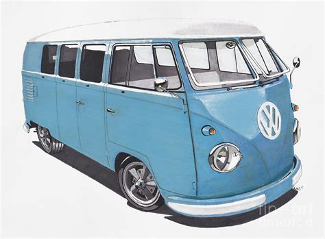volkswagen bus drawing volkswagon bus drawing vintage retro vw bus projects