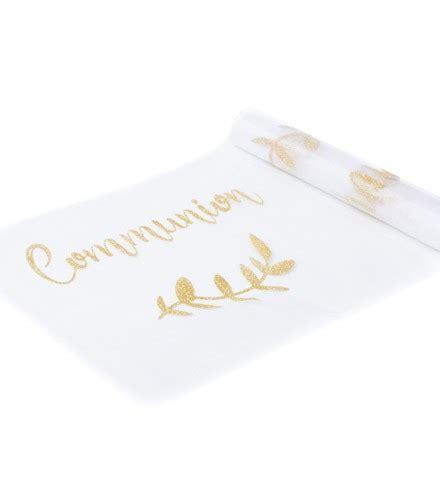 chemin de table mariage organza chemin de table communion organza or drag 233 e d amour