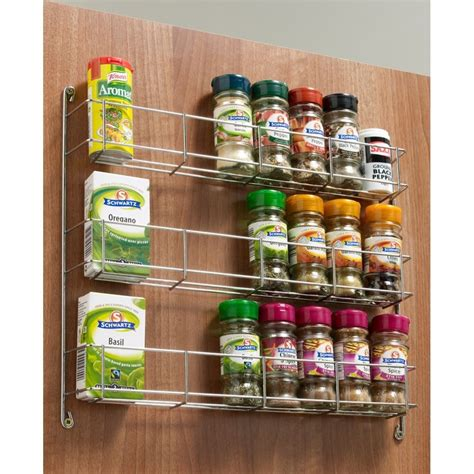 kitchen cabinet spice racks spice jar rack 3 tier chrome wall kitchen cupboard 300 400 5793