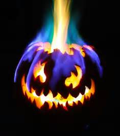 Rainbow Fire Jack-O-Lantern Halloween