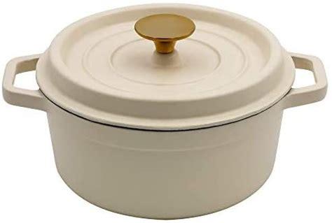 amazoncom aidea enameled cast iron matte dutch oven pot  lid  quart