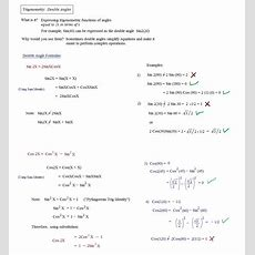 Math Plane  Trig Identities Ii  Double Angles