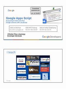 Google Apps Script  Accessing G Suite  U0026 Other Google