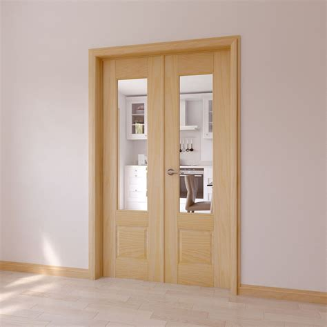frosted glass shower doors for tubs clear glazed 2 panel clear pine door set