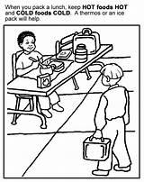 Coloring Manners Sheets Cold Printable Preschool Healthy Eating Activities Sheet Foods Safety Rocks Safe Lunch Games Daycare Kleurplaten Kleurplaat Eten sketch template