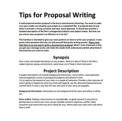 writing proposal template   word excel