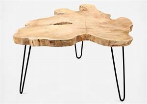 Table basse tronc d'arbre Design Les Esthètes