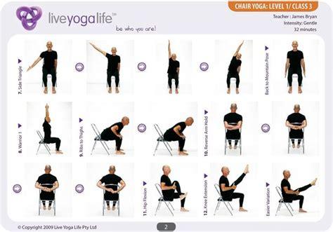 Yoga Office Chair Easy Yoga Poses For Seniors