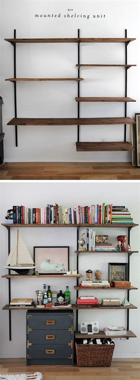 Shelving Projects by Diy Mounted Shelving For The Shelving And