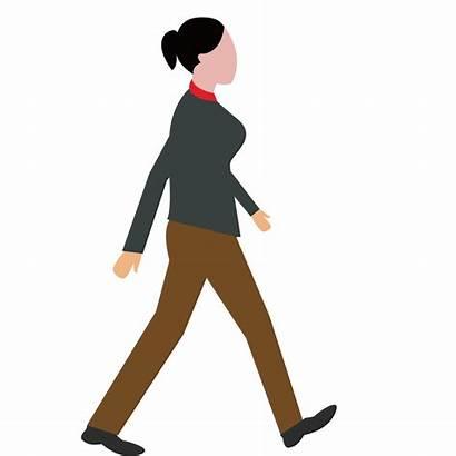 Walking Clipart Woman Animated Transparent Female Cartoon