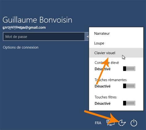 raccourci pour afficher le bureau windows 10 comment afficher le clavier visuel virtuel