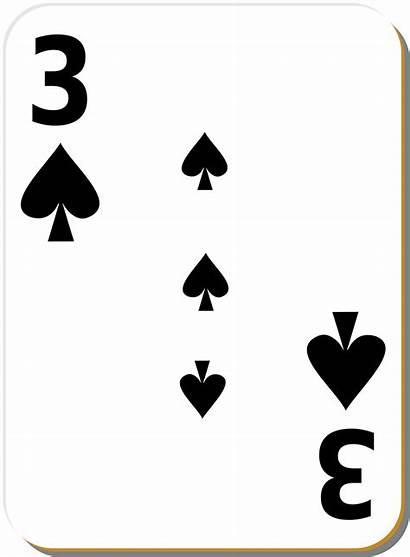 Spades Card Playing Three Clip Vector Clipart