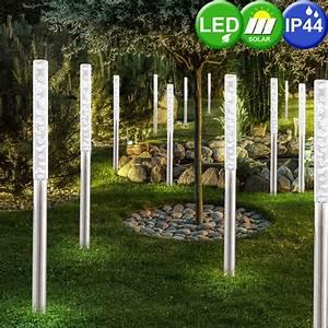 Lampen Für Garten : 16er set led solar erdspie lampen garten beleuchtung edelstahl luft blasen steck leuchten ip44 ~ Eleganceandgraceweddings.com Haus und Dekorationen