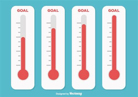 black and bed set goal thermometer illustration free vector
