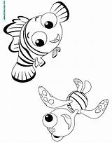 Nemo Coloring Squirt Finding Template Disneyclips Quirt sketch template