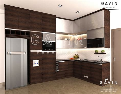 design kitchen set minimalis model dan gambar kitchen set minimalis modern finishing 6577