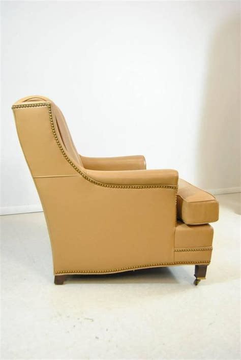 hancock and moore leather chair and ottoman hancock and moore tan leather club chair and ottoman with