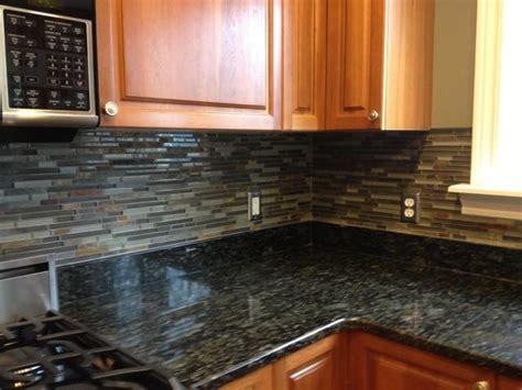Slate Backsplashes For Kitchens Kitchen Backsplashglass Tile And Slate Mix Kitchen Backsplash Traditional Kitchen Detroit