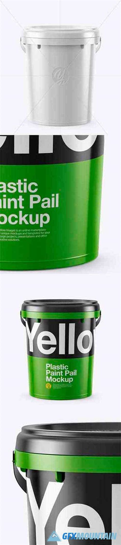 Free 20l tin paint bucket mockup for free. Plastic Bucket Mockup - Front View » Free Download ...