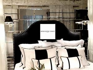 Tete De Lit Cloutée : tete de lit cloutee en lin lave noir hugo realisations ~ Teatrodelosmanantiales.com Idées de Décoration
