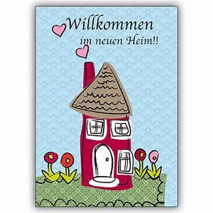 Glückwünsche Zum Eigenen Haus : gl ckwunschkarte mit haus zum umzug oder einzug in s neue ~ Lizthompson.info Haus und Dekorationen