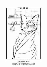 Self Care Coloring Sheets Printable Distraction Practicing Pets These sketch template