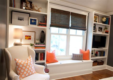 Master Bedroom Builtin Bookcases After Styling