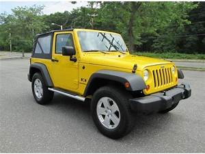 2007 Jeep Wrangler X 2 Door 4x4 6 Speed Yellow 1 Owner