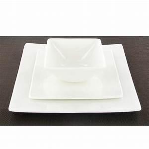 Assiette Blanche Carrée : assiette dessert carr e blanche fine bone china achat ~ Teatrodelosmanantiales.com Idées de Décoration