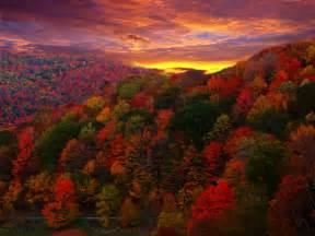 Autumn Mountain Sunset