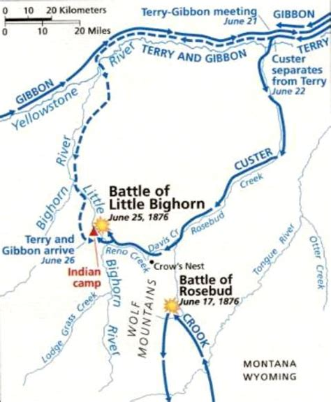 battle of little big horn map quotes