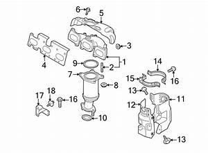 Mazda 6 Exhaust Manifold Heat Shield Bolt  System  Rear