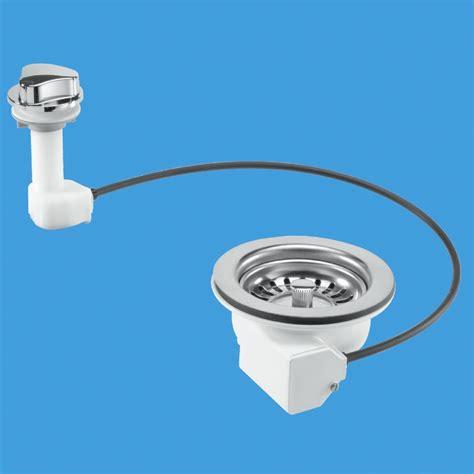 pop up kitchen sink waste pop up kitchen sink basket strainer waste pus113 7526