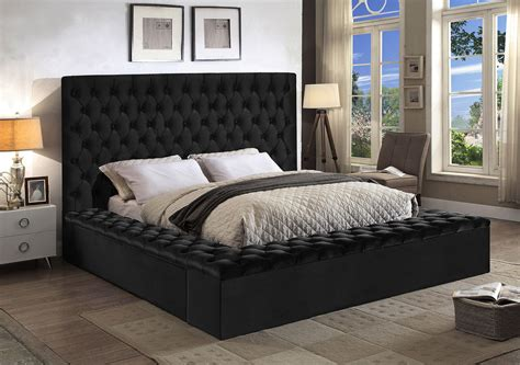 King Size Bed by Bliss Black King Size Bed Bliss Meridian Furniture King