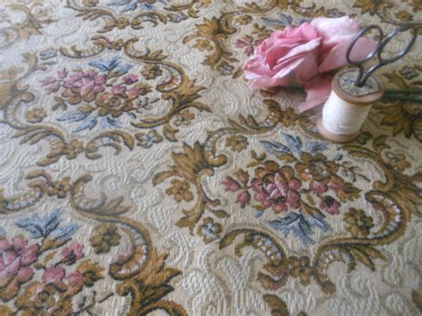 vintage upholstery fabric antique vintage roses floral scroll tapestry fabric