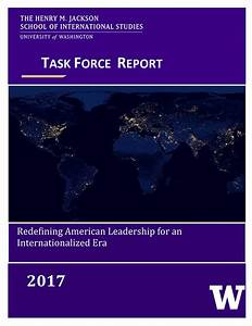 Redefining American Leadership for An Internationalized ...