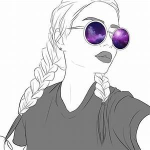 Fille Noir Et Blanc : dessin de fille swag trait net ~ Melissatoandfro.com Idées de Décoration