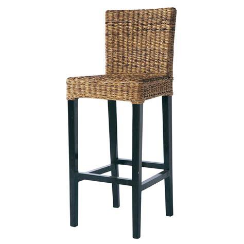 maison du monde chaise de bar chaise de bar en abaca et mahogany massif rangoon