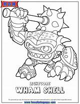 Coloring Pages Skylanders Colouring Swap Force Wham Skylander Shell Printables Bump Fist Coloriage Sheets Fancy Ninjini Adult Books Spyro Water sketch template