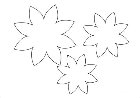 free printable paper flower templates flower template free templates free premium templates