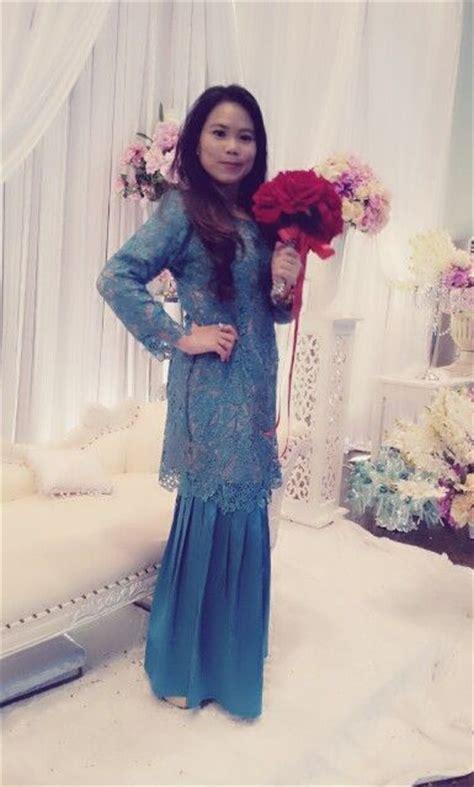 wearing prada lace kurung modern baju kurung