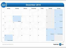 Kalender Dezember 2016