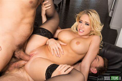 All Holes Filled For Gorgeous Blond Jessie Volt