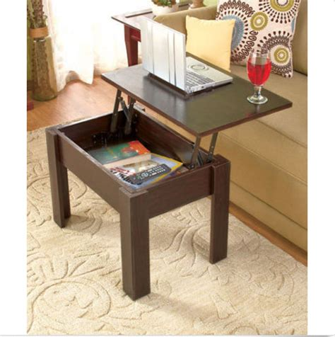 Chiva coffee table can be turned into a dining table when space is limited. Small Coffee Table With Storage | Coffee table, Coffee ...