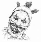 Clown Twisty Horror Drawing Scary Drawings Coloring Clowns Deviantart Freak Evil Ahs Sketches Adult Tattoo Img10 Dibujos sketch template
