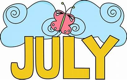 July Month Clip Calendar Background Scrapbook Summer