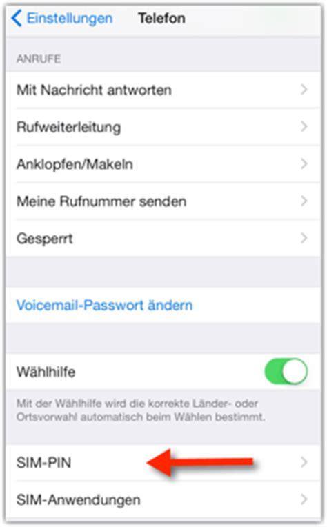 iphone sim pin aendern oder deaktivieren anleitung