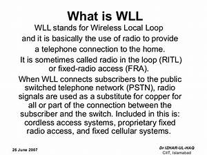 Wireless Local Loop 26 June