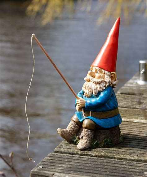 buy rien poortvliet garden gnome  fishing rod bakkercom